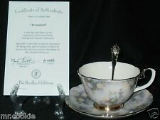 Treasured by Lena Liu 2n Issue Glorious Chintz Collection Teacup Saucer Set Coa