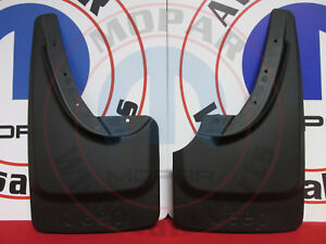 JEEP GRAND CHEROKEE Black Rear Deluxe Molded Splash Guards NEW OEM MOPAR