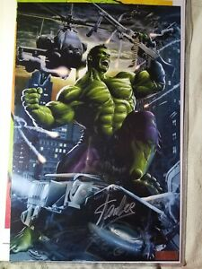 Incredible Hulk 11x17 Print signed by Greg Horn and Stan Lee @ Megacon COA