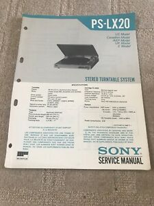 PS-LX20  Sony Service Manual Circuit Diagram Stereo Turntable System