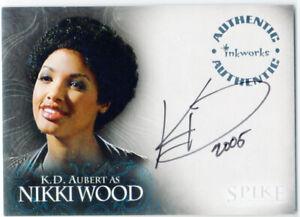 Spike Complete Story Autograph Card A5 K.D. Aubert as Nikki Wood Inkworks 2005