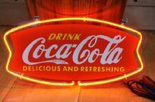 "New Coca Cola Neon Light Sign Lamp Beer Pub 14"" Artwork Glass Decor Coke Bar"