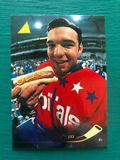 """1995-96 Pinnacle OLAF KOLZIG """"Mustard OLAF Hot Dog"""" Funny Real Ice Hockey Card"""