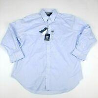 LRL Ralph Lauren Dress Shirt Mens UltraFlex Classic Fit Blue Stretch 17.5 32/33