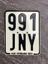 Moped - Kennzeichen, Nummernschild von 1975, Kreidler, DKW, Zündapp etc.