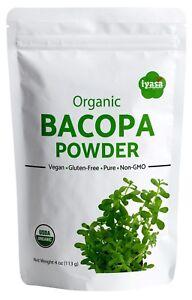 Certified Organic Bacopa Powder(Brahmi Monnieri) 4,8,16 oz Brain Booster Premium