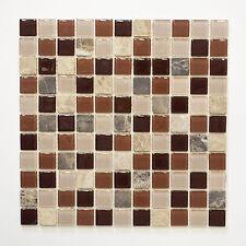 selbstklebend Mosaik Kombi. Glas Marmor beige SAM 4M352 Matte 300x300x5mm