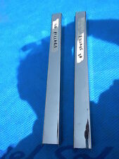 JAGUAR MKII SALOON REAR B PILLAR CHROME MOLDING SET ORIGINAL VINTAGE