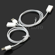 1m USB 2.0 Male To Female M/F Extension Extender Charging Cables Cords 2x White
