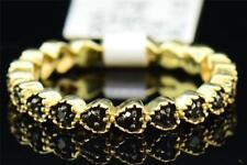 Diamant Noir Bague Mariage .925 Argent Sterling Rond Coeur Motif Bande 0.23 CT