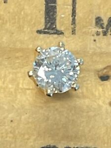 14KT Yellow Gold 0.26CT GENUINE Diamond Single Stud Earring