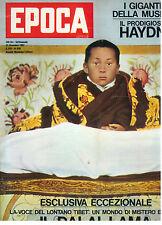 EPOCA N. 639 23 DICEMBRE 1962 DALAI LAMA JOSEPH HAYDN MORTE CHARLES LAUGHTON