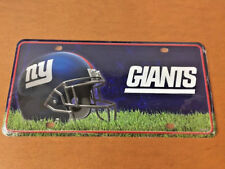 New York Giants Metal Novelty License Plate Car Truck NFL Football Tag