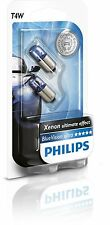 2 Bombillas Philips BlueVision Ultra T4W 12V Xenon Blue Vision Señalizacion