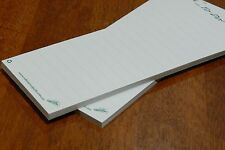 2 Notepads Unbleached Recycled Paper Stationery Shopping To Do List (no magnets)