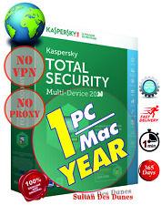 AntiVirus Kaspersky Total Security 1Dev/1Y - 20/21 - World Wide - Fast delivery