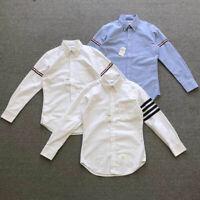 THOM BROWNE Men's cotton stripes Long Sleeves Shirt Top FR