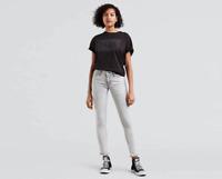 Levi's 711 Skinny Mid Rise Light Gray Jeans
