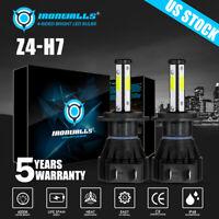 4 sides H7 LED Headlight Bulb Kit Hi/Low Beam Fog Super Bright Power 6500K White