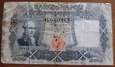 BANCONOTA 500 LIRE BANCO DI NAPOLI  FIRME MIRAGLIA MANCINI