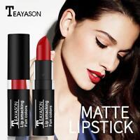 Lip Gloss Makeup Lip Matte Lipstick Long Lasting Waterproof Halloween Dark Q3T6