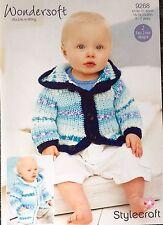 Stylecraft Wondersoft Baby Double Knitting Pattern 9268 Birth to 7 Years