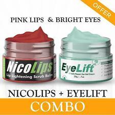 Combo Under Eye Cream & NicoLips Lip Gel Scrub Removes Nicotine Stains
