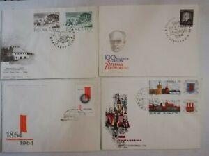 Polen 30 x  FDC 60´er und 70´er Jahre