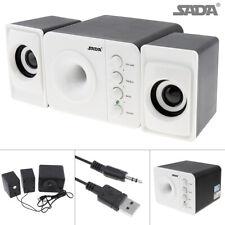 SADA Computer Speakers USB Desktop PC Laptop Audio Player System Subwoofer Mini