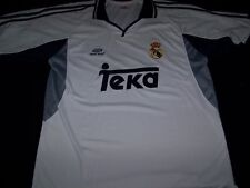 Real Madrid Soccer Jersey FC Football Club Teka white shirt size XL
