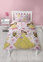 Disney Princess Belle Duvet Cover Set, Microfibre, Pink, Single