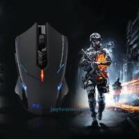 2.4G Wireless Gaming Mouse 2400 DPI 7 Button USB LED Light Optical Mice For PC
