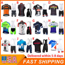 Mens Road Bike Cycling Clothing Short Jersey Bib Shorts Set Shirt Tights Cushion