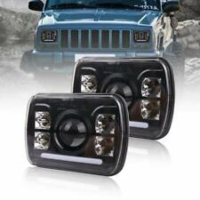 7x6 H4 H6054 Led Headlights Hi/Lo Beam White DRL for Jeep Wrangler YJ Cherokee