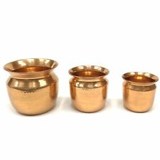 """Nesting Hammered Copper Planters Set of 3 ( 7"""" x 8"""", 5.5"""" x 6"""", 5"""" x 5"""")"""