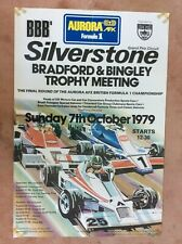 Original Race Poster Silverstone F1 1979