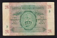 Great Britain - Military Authority P-M3. (1943) 2 Shillings 6 Pence.. gVF