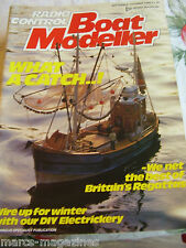 MODEL BOATS RC BOAT MODELLER SEPT OCT 1986 GWYNN ADCOCK RIVERMAN TUG DEN NIXON