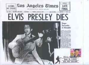 Rare Sc2720 ELVIS  LOS ANGELES  NEWSPAPER home made  First Day cover GREAT PRICE