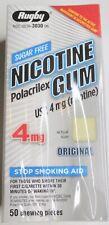 Rugby Nicotine Polacrilex Sugar Free Gum 4 Mg Nicotine 50 Piece Stop Smoking Aid