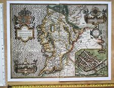 "Old Tudor map of Connaught, Ireland: John Speed 1600's 15"" x 11"" (Reprint)"