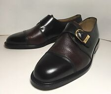 New Mens Boys Quality Italian Leather BALLY Breno shoes Monks Buckle Oxford sz 6