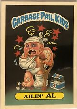 1986 GARBAGE PAIL KIDS LARGE STICKER - AILIN' AL PERMIT TO BE A PIG #15 - 5x7