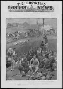 1904 Antique Print - PORT ARTHUR Military At Rest Japanese Troops Battery (324)