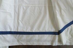 Vintage King Pottery Barn Morgan Organic Cotton Bed Skirt Twilight Blue #6174