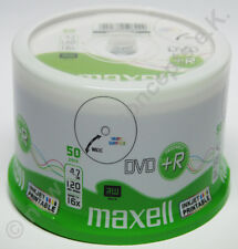 maxell DVD+R 4,7 50 pièce GB Wide imprimable, Grand Zone d'impression 16x