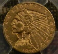 1928 2.5 Dollar Indian Head Gold Coin PCGS MS63