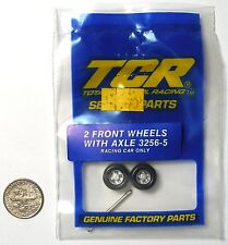 3pc TCR MK 1 &  JAM HO Slot LESS Car Tune Up Kit FRONT WHEEL HUBS & AXLES 3256-5