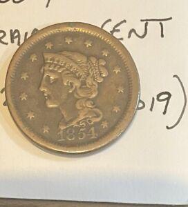 1854 United States Cent
