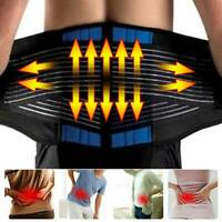 Lumbar Support Lower Back Brace Strap Belt Pain Relief Posture Waist Trimmer LC